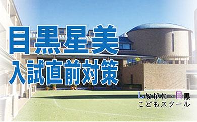 目黒星美学園小学校 入試直前期対策